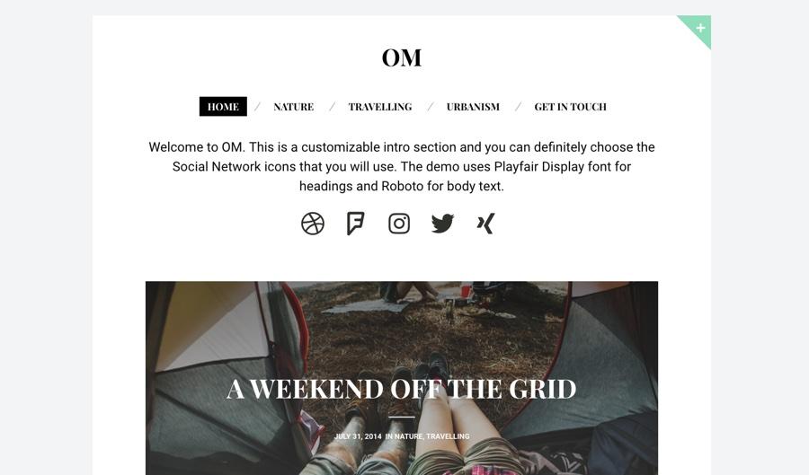 OM Modern Blogging WordPress Theme