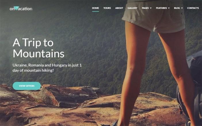OnVacation Travel Company Elementor WordPress Theme