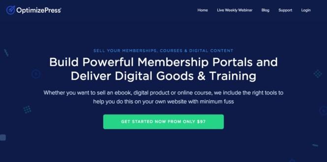 Plugin d'adhésion WordPress OptimizePress
