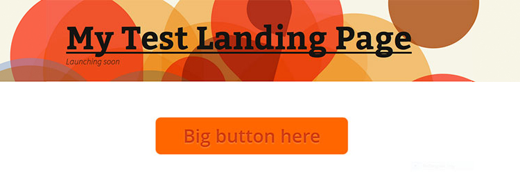Landing Page with Button