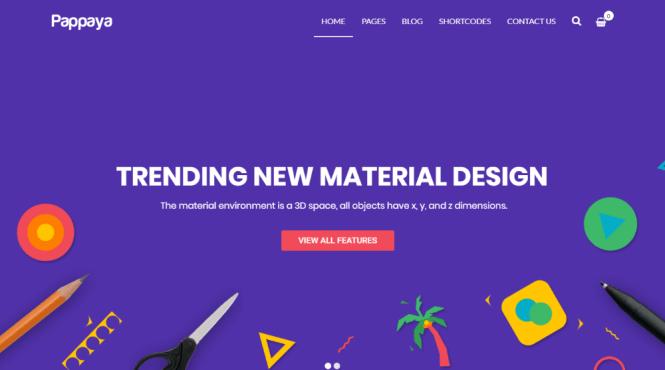 Thème WordPress pour Pappaya Material Design