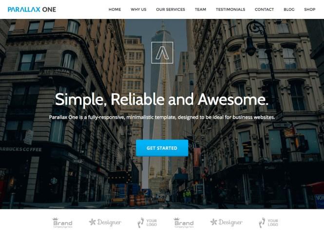 Thème WordPress gratuit pour Parallax One Business