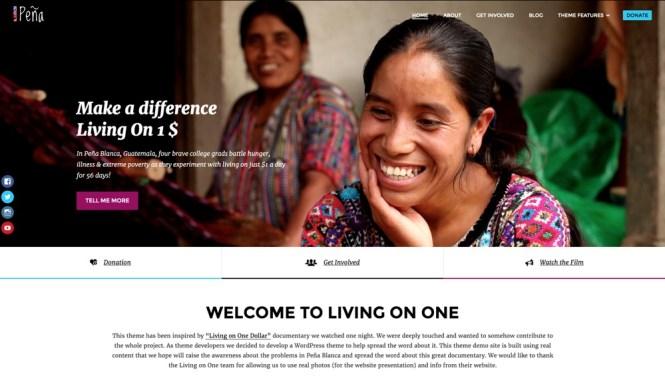 Thème WordPress Pena pour les organismes caritatifs et à but non lucratif