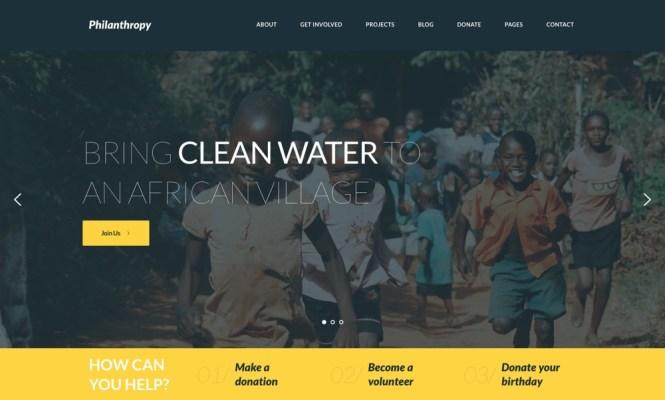 Philanthropie Thème WordPress
