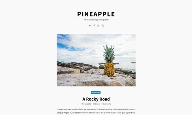 Thème WordPress gratuit pour ananas Tumblog