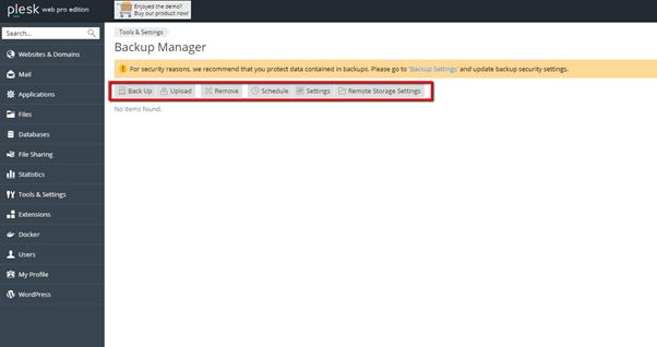 Plesk Backup Manager