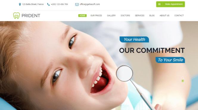 Thème WordPress Prident Dental