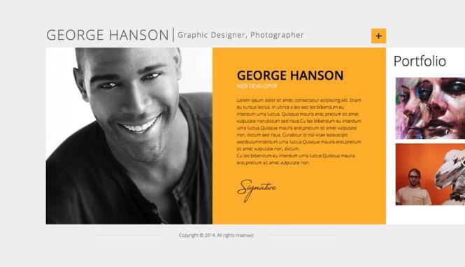 Profession One Page CV CV Thème WordPress
