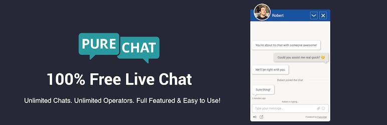 Pure Chat - Free Chat WordPress Plugin