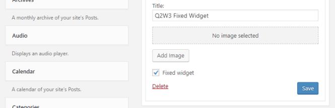Widgets fixes Q2W3