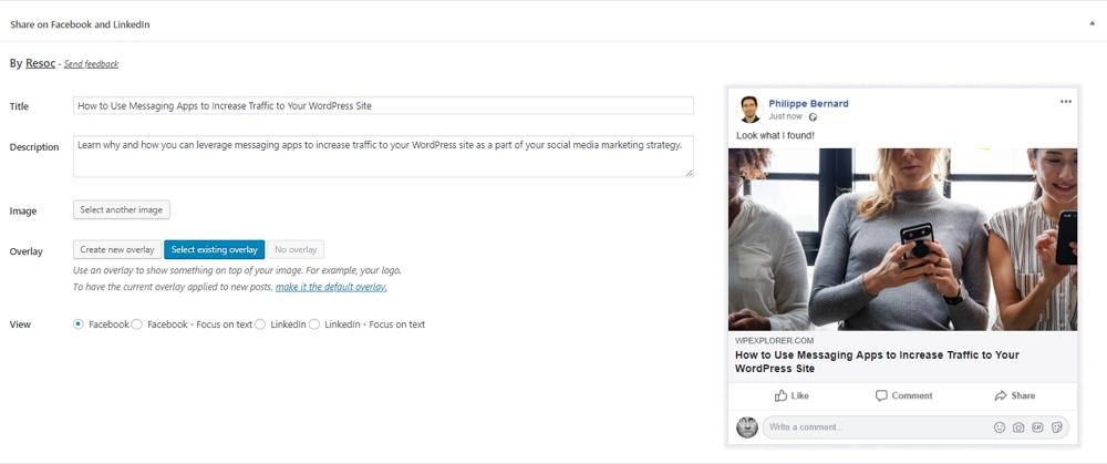 Resoc Социальный редактор для WordPress