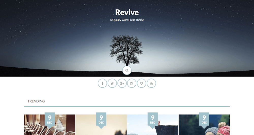 Revive Free Blogging theme