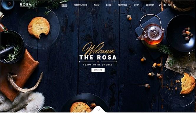 ROSA Meilleurs thèmes WordPress pour les restaurants