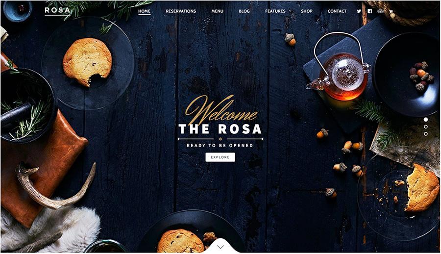 ROSA Лучший ресторан WordPress Themes