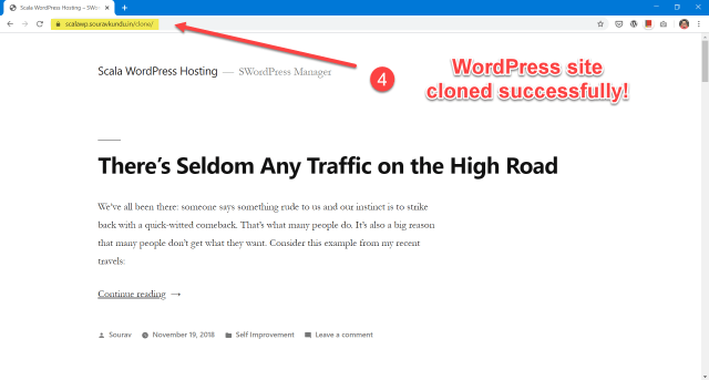 scala swordpress manager options - clone wordpress site 4