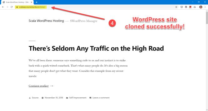 options du gestionnaire scala swordpress - cloner le site wordpress 4