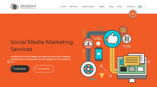 Seosight - Thème WordPress pour une agence de marketing numérique