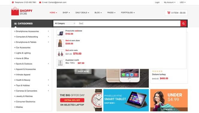 Conseils WooCommerce simples: Recherche en direct ShoppyStore Ajax