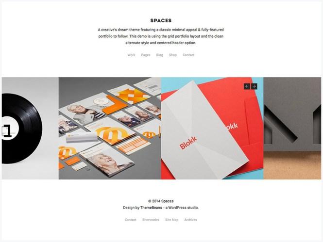 Spaces - Thème WordPress du portefeuille multi-usages créatif et de la boutique WooCommerce