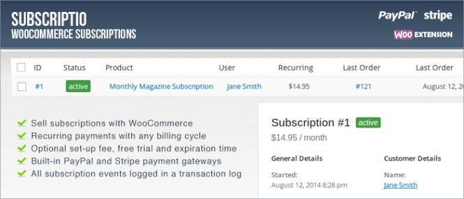 Inscription - WooCommerce Subscriptions Premium WordPress Plugin
