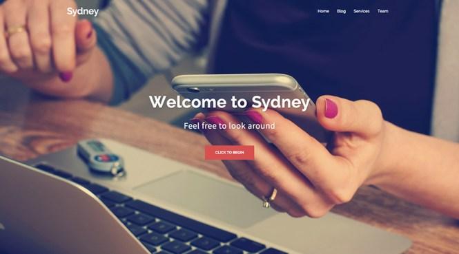 Thème WordPress gratuit de Sydney