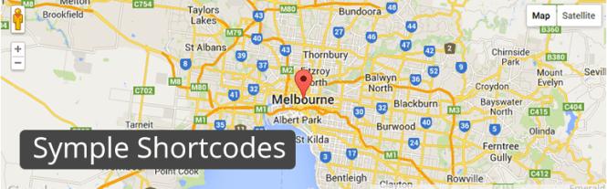 Meilleurs plugins de mappage: Short Codes Symple