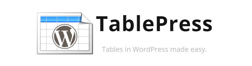 TablePress Плагин WordPress