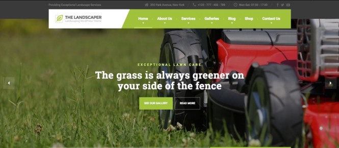 Le thème WordPress de The Landscaper Lawn & Ladscaping