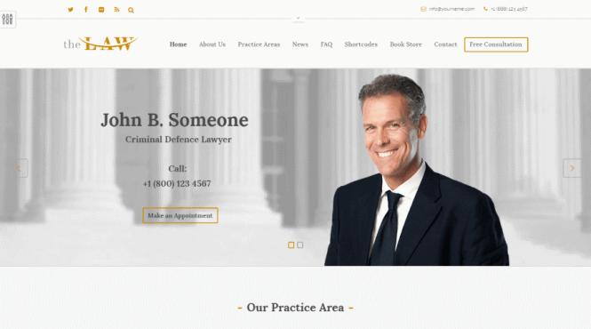 The Law - Thème WordPress pour avocat
