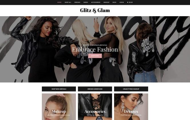 Démo WordPress Total Glitz & Glam Ecommerce