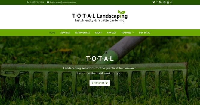 Thème WordPress pour l'aménagement paysager total