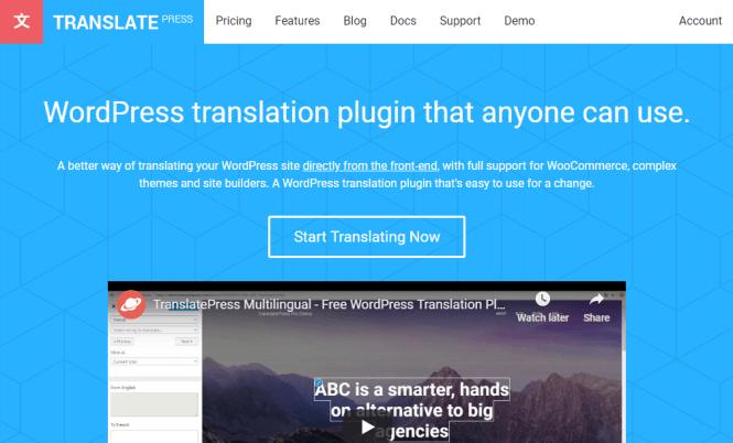 version premium de translatepress