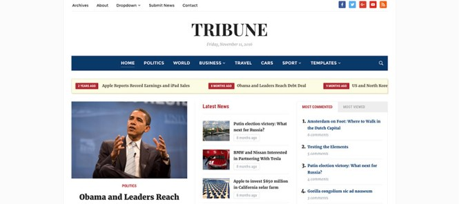 Tribune WordPress Thème