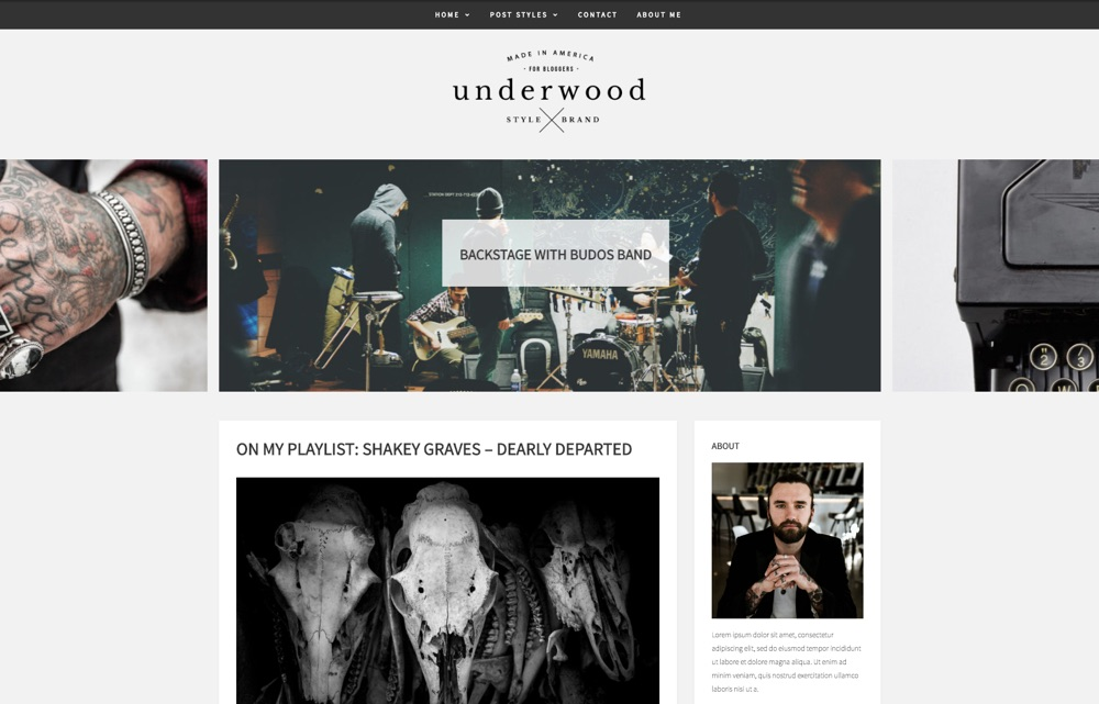 Underwood Story Blog WordPress Theme