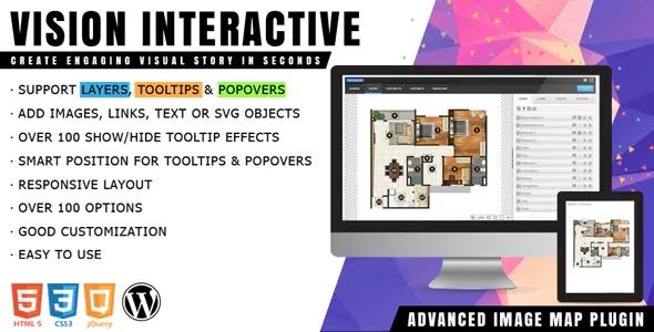 Vision Interactive - Конструктор карт изображений для WordPress