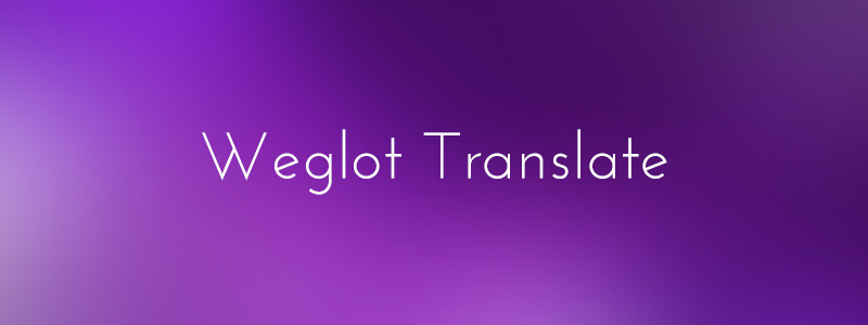 Translate WordPress with Weglot