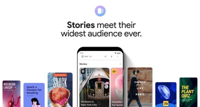 Que sont les histoires Web de Google?