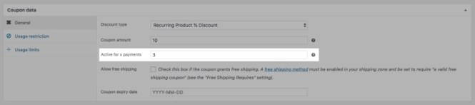 Codes d'abonnement dans les abonnements WooCommerce