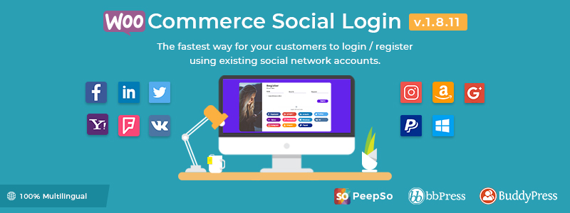 WooCommerce Social Login Premium WordPress Plugin