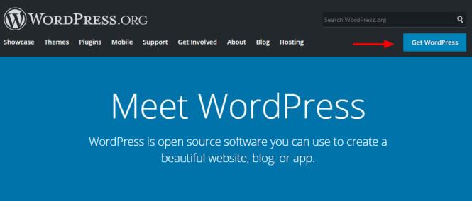 site officiel de wordpress