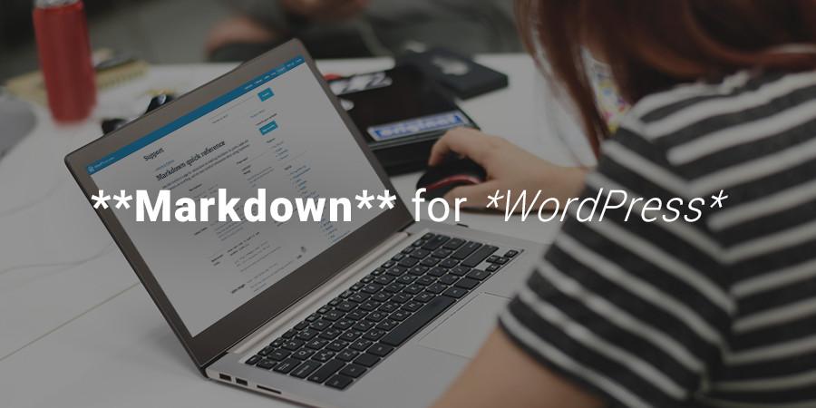 Markdown for WordPress