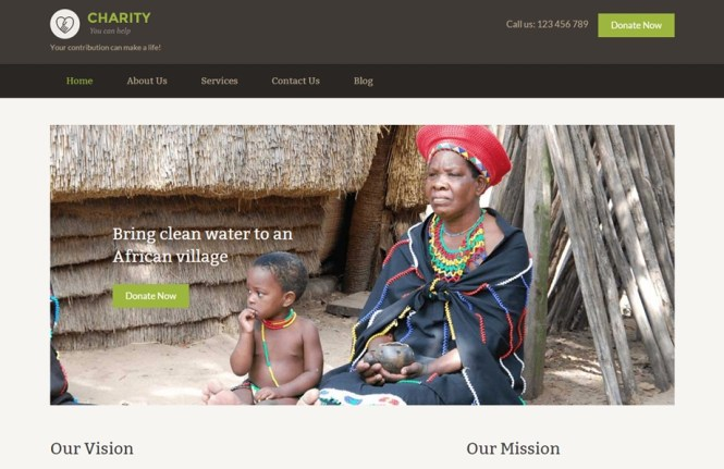 Charity Quick Edit Thème WordPress