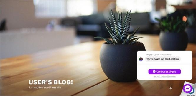 WP-Chatbot par MobileMonkey Widget