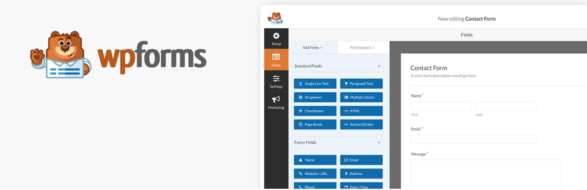 Screenshot of WPForms plugin.