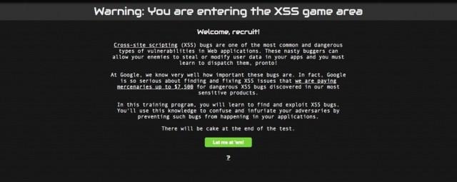 XSS Google Game
