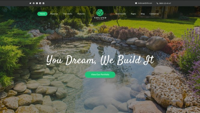 Yoland Design Paysagistes et accessoires de jardinage Thème WordPress