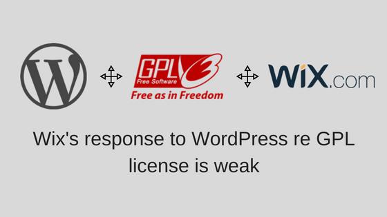 Wix WordPress GPL issue