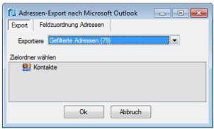WPH Selectline Auftrag CRM Outlook Export