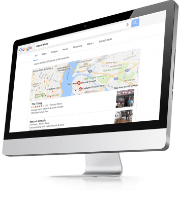 Local google search results on imac