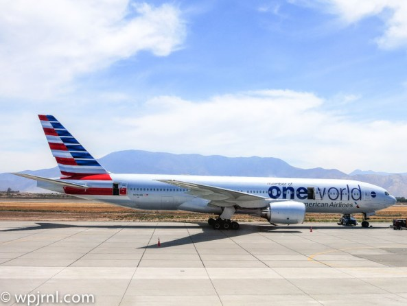 AA Boeing 777 Parked in Santiago - American Airlines AA940-AA945 in SCL